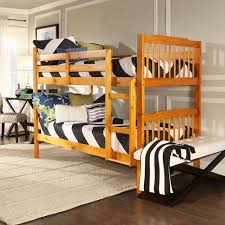Elise Bunk Bed Honey Pine Walmartcom - Pine bunk bed