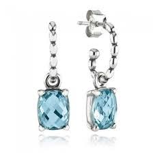 cool dangle earrings pandora cool dangle earrings blue topaz girl s pandora