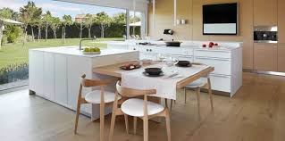 cuisine blanche avec ilot central cuisine avec ilot central 15 idées de coin repas femme actuelle