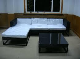 Rattan Sleeper Sofa Pe Rattan Sleeper Sofa Fashion Indoor L Shape Lounge Sofa Set