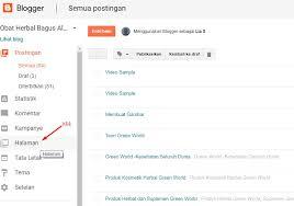 blogger atau blogspot cara buat atau edit atau hapus halaman di blog blogspot