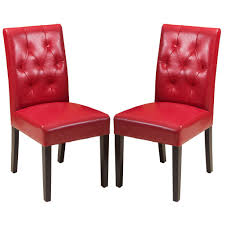 White Leather Dining Chairs Canada Waldon Red Dining Chair Set Of 2 Great Deal Furniture Canada