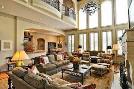 Plan TX Spectacular TwoStory Family Room Balconies - Two story family room