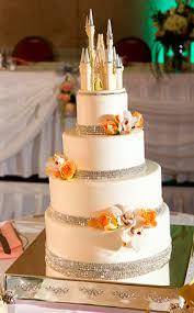 wedding cake wednesday floral royal bling disney weddings
