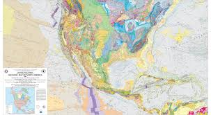 North America South America Map by Gmna Resources Usgs