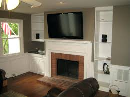 install tv above gas fireplace on wall flat screen decorations