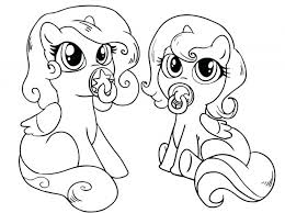 pony baby coloring pages coloring