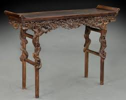 chinese rosewood side table chinese carved rosewood side table with everted lot art