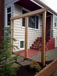 galvanized steel mesh trellis with cedar frame loyal heights ecoyards