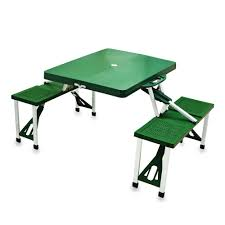 portable folding picnic table picnic time portable folding green plastic outdoor patio picnic