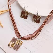 aliexpress com buy beautiful chian necklace dangle earring