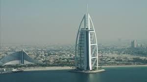 aerial burj al arab 7 star hotel dubai jumeirah beach hotel uae