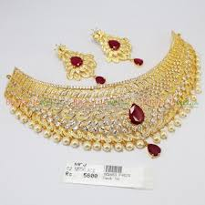 necklace chokers images Cz ruby stone choker necklace online jpg