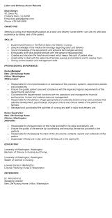 Best Resume For Nurses by Resume Templates For Labor And Delivery Nurses Resume Examples