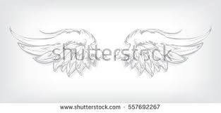 vector heraldic angel wings download free vector art stock