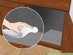 How To Remove Oil Stains From Wood Cabinets 3 Ways To Clean Wood Kitchen Cabinets Wikihow