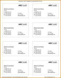 6 business card templates word wedding spreadsheet