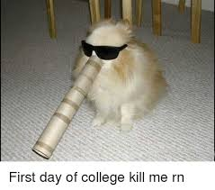 Kill Me Meme - first day of college kill me rn college meme on sizzle