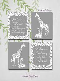 Giraffe Nursery Decor Giraffe Nursery Decor Gray Nursery Neutral Nursery Decor