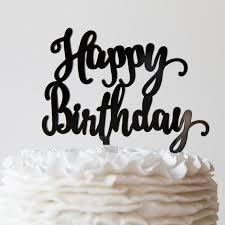birthday cake toppers happy birthday cake topper pink poppy party shoppe