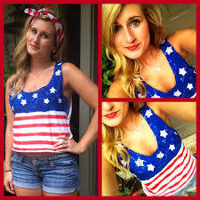 Cute American Flag Shirts Diy 4th Of July Shirt Youtube