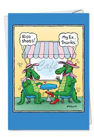 Congrats On Your Divorce Card Alligator U0027s Husband Funny Divorce Greeting Card Nobleworks