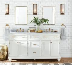Pottery Barn Bathroom Ideas Vintage Recessed Medicine Cabinet Small Brass Finish Love The