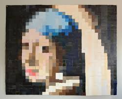 pearl earring painting diy paint chip wall