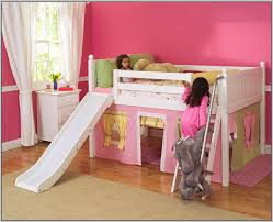 girls low loft bed twin bed with slide awesome27 wp mid loft panel bed with straight