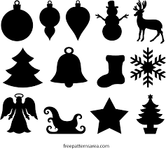 winter and ornament cutouts wood templates