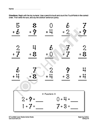 bunch ideas of touch math addition worksheets on worksheet