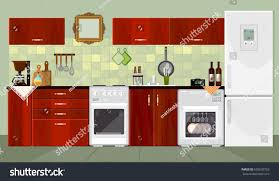 designs of modern kitchen kitchen interior background furniture design modern stock vector
