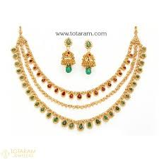 diamond sets images 22k gold diamond necklace sets indian gold jewelry from