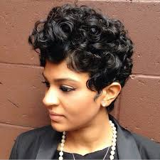 black hair tight curls short hair style larger tight curls with soft airfinger waves on