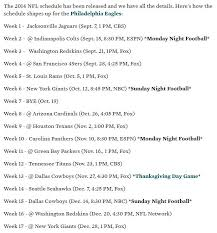 25 best ideas about eagles schedule on