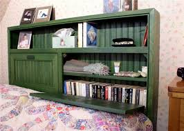 Over The Bed Bookshelf Bedroom Endearing Storage Headboard On Pinterest Under Bed