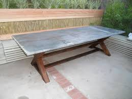 Remove Rust From Metal Furniture by Remove Rust At Zinc Dining Table
