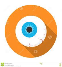 halloween eyeball icon flat stock vector image 78326195