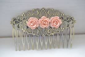 vintage hair combs vintage antique style filigree flower hair comb