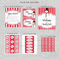 north pole candy cane lane party ideas swish printables