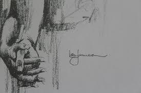 leo jansen leo jansen krijtpastel tekening couples wedding holding