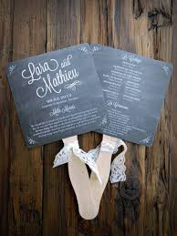 Diy Wedding Fan Programs Chalkboard Wedding Picmia