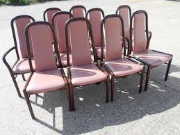set of ten danish mid century modern rosewood dining chairs by