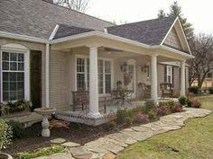 exterior house colors for ranch style homes adding a front porch to a ranch house for the home pinterest