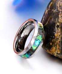 wedding bands world men s turquoise black wood inlay tungsten ring jewelry