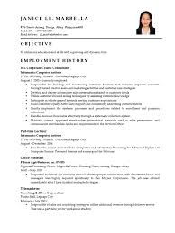 Sample Objectives In Resume For Ojt Business Administration Student by Sample Resume For Ojt Computer Science Students Free Resume