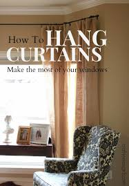 Hang Curtains Higher Than Window by Crafty Texas Girls The Thing About Hanging Curtains