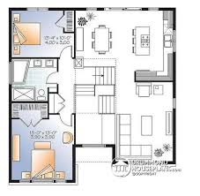 Level Floor House Plan W3490 Detail From Drummondhouseplans Com