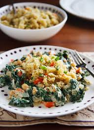 cuisine casher cosmic cashew kale and chickpeas with confetti quinoa recipe from