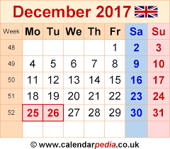 december 2017 calendar with holidays uk 2017 calendar with holidays